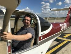 Arnaud, first solo on 6 August 2017, Charleroi airport