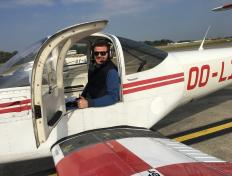 Benjamin, first solo on 26 September 2017, Charleroi airport