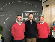 Chris, private pilot since 2 February 2017, between his main instructor and his examiner