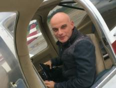First solo flight for Christophe on 10 May 2018 (Charleroi airport)