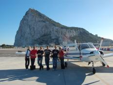 School flying trip - Gibraltar, November 2010