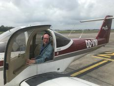 François, first solo on 8 October 2017, Charleroi airport