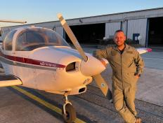 Helder, first solo on 28 February 2021, Charleroi airport (EBCI)