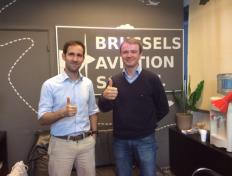 Fernando, private pilot since 4 October 2016, and his flight instructor Cédric
