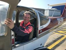 Isabelle, first solo on 1 April 2019, Charleroi airport