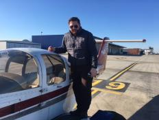 Jamie, first solo on 25 February 2018, Charleroi airport