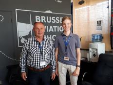 Johannes, private pilot since 11 October 2018, and his examiner Luc