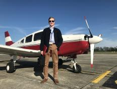 Johannes, first solo on 30 April 2017, Charleroi airport
