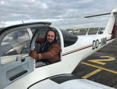 Julien, first solo on 11 December 2018, Charleroi airport