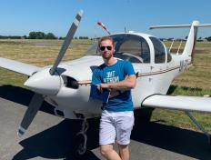 Léo, first solo on 29 June 2019, Maubeuge airfield