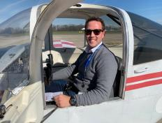 Laurent, first solo on 5 April 2019, Charleroi airport