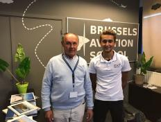 Lorenzo, private pilot since 13 September 2018, and his examiner Luc Halleux