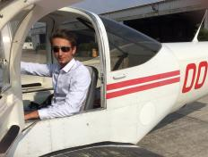 Lorenzo, first solo on 5 May 2017, Charleroi airport