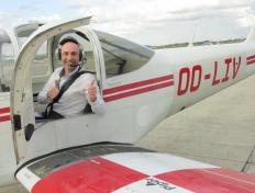 Miklos, first solo on 28 April 2017, Charleroi airport
