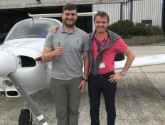 Morten (and one of his instructors Cédric), private pilot since 22 July 2017