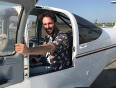 Nico, first solo on 31 March 2021, Charleroi airport (EBCI)