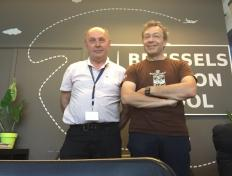 Pascal, private pilot since 19 April 2018, and his PPL examiner Luc