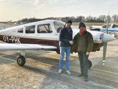 Rafal, private pilot, and his examiner, Luc, after his EIR skill test