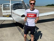 Sam, first solo on 28 June 2019, Charleroi airport
