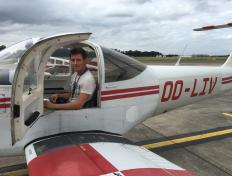 Tom, first solo on 11 September 2016, Charleroi airport