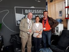 Vanina, between her examiner and one of her instructors: private pilot since 31 August 2018