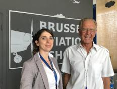 Alice, private pilot since 1 July 2019, and his examiner Louis Philippe