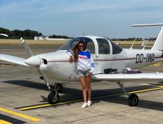 Chloe, first solo on 6 August 2020, Charleroi airport (EBCI)