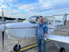 Christophe, first solo on 5 August 2021, Charleroi airport (EBCI)