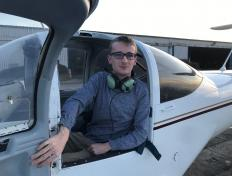 Damien, first solo on 30 November 2019, Charleroi airport