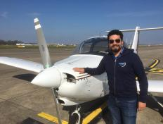 Diego, first solo on 23 March 2021, Charleroi airport (EBCI)