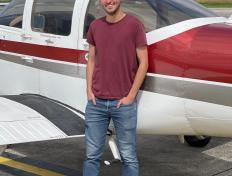 Julian, first solo on 9 July 2021, Charleroi airport (EBCI)