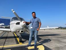 Michel, first solo on 4 September 2021, Charleroi airport (EBCI)