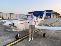 Thomas, first solo on 20 July 2021, Charleroi airport (EBCI)