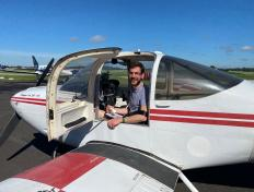 Florian, first solo on 13 June 2020, Namur airport